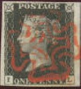 Penny Black stamps price guide